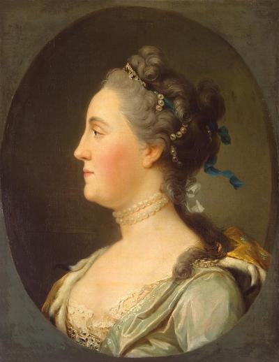 Портрет великой княгини Екатерины Алексеевны. Дания, до 1762 г. Эриксен, Вигилиус. 1722-1782. Холст, масло, 54x42,5 см. ГЭ